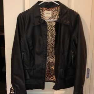 Leather like jacket brand new